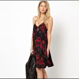 Rose swing tank dress
